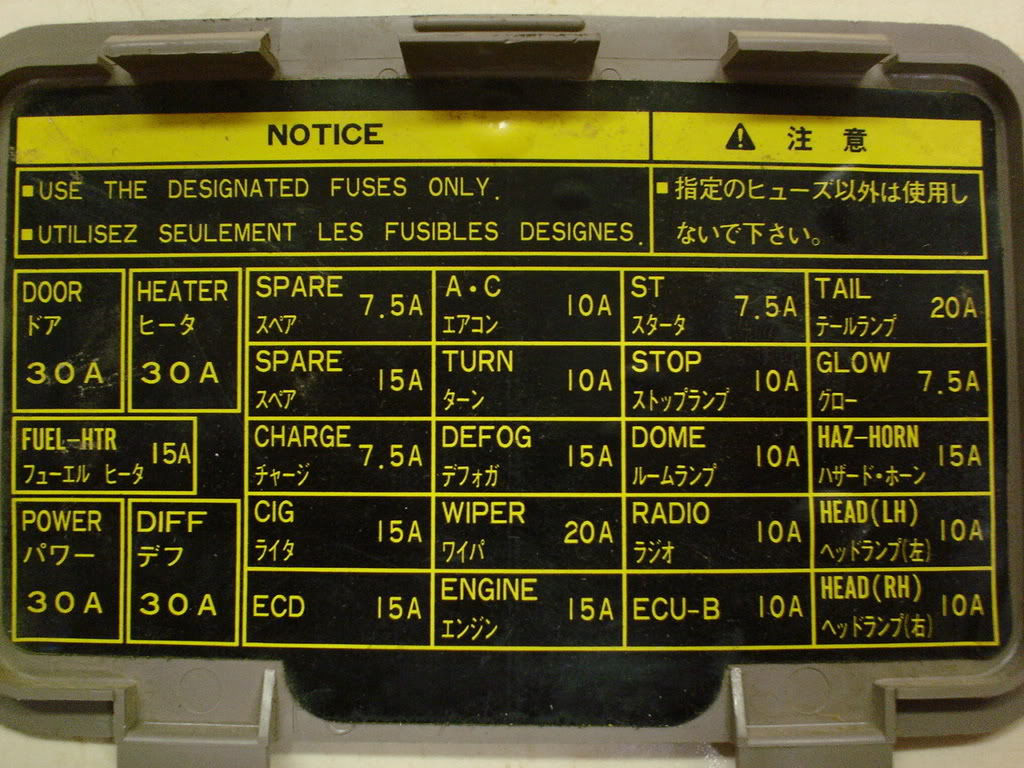 2004 Colorado Fuse Box Diagram