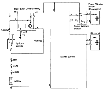 Toyota Power Window Switch Wiring Diagram