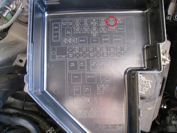 2004 toyota sienna fuse box wiring diagram database 1992 Toyota Camry Fuse Box 2005 Toyota Sienna Fuse Box #17
