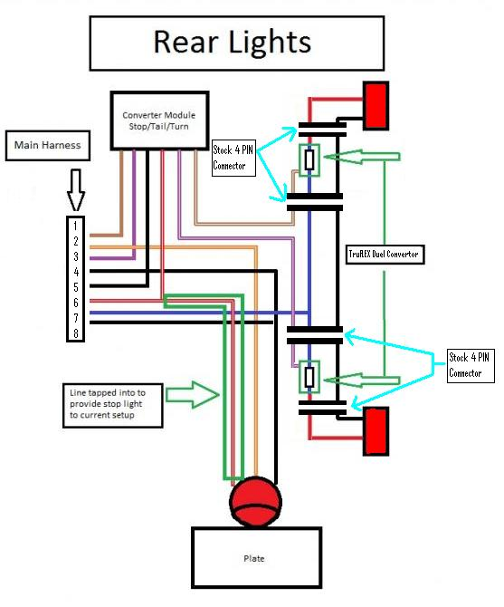 trailer brake and light wiring diagram schematic diagram