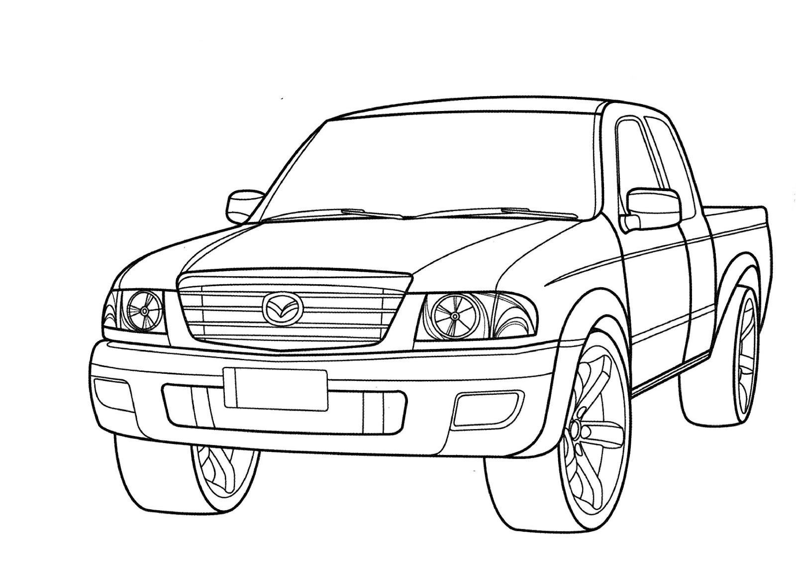 Transportes para colorear: Todoterrenos Mazda