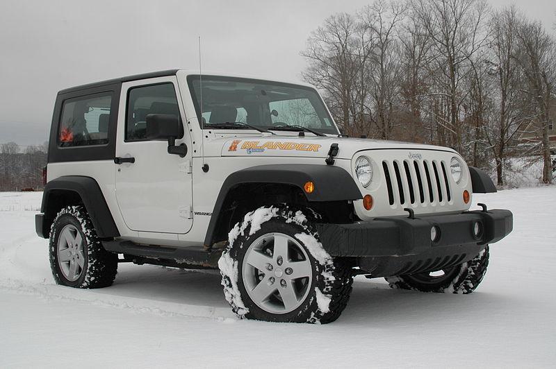 White Jeep Wrangler 4 Door