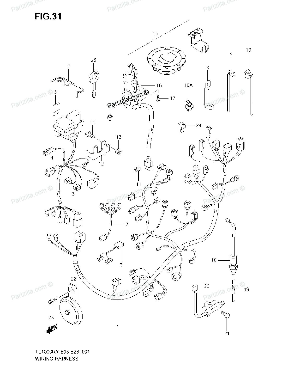Wiring Diagram Suzuki TL1000S